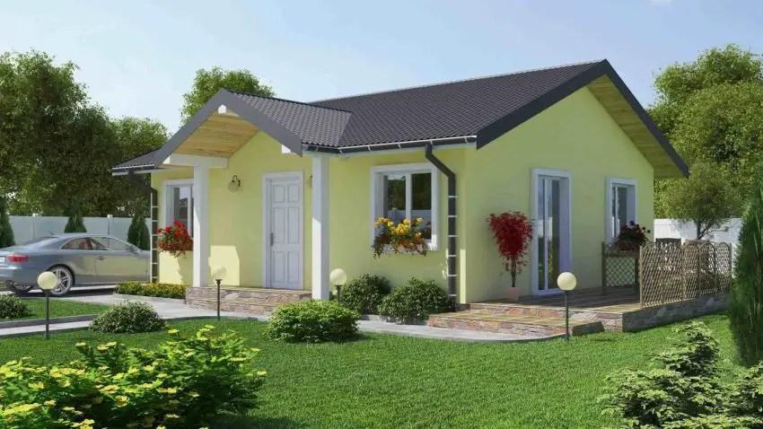 Proiecte de case fara etaj cu 2 dormitoare - o locuinta cocheta
