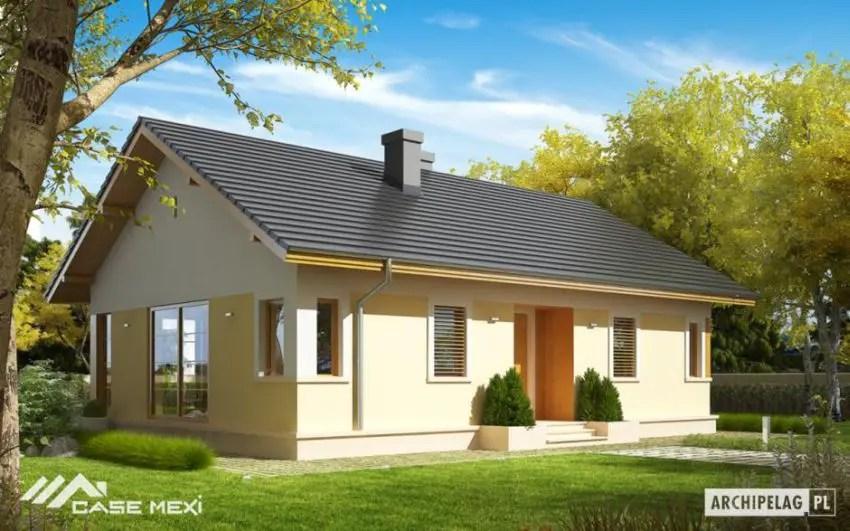 proiecte de case fara etaj cu 2 dormitoare Two bedroom single story house plans 11
