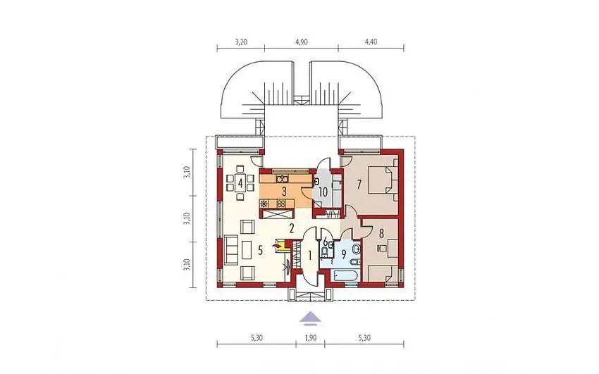 proiecte de case fara etaj cu 2 dormitoare Two bedroom single story house plans 12