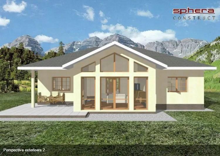 proiecte de case fara etaj cu 2 dormitoare Two bedroom single story house plans 6