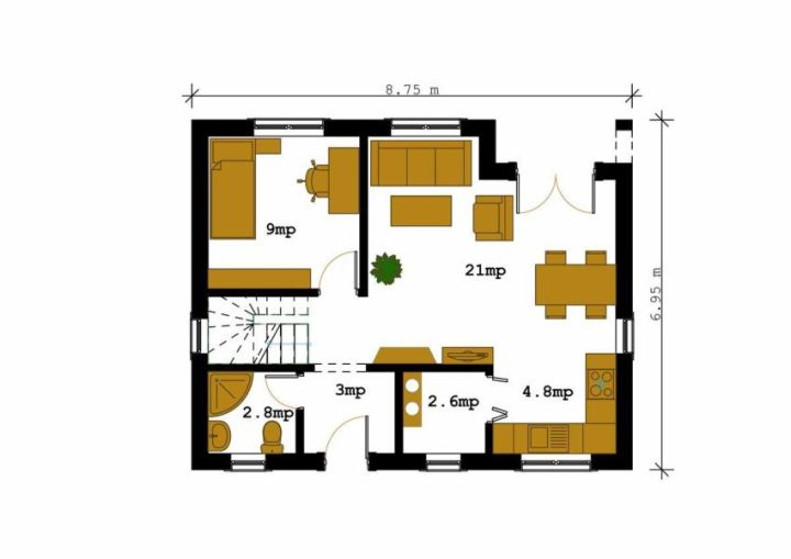 proiecte de case intre 100 si 160 de mp House plans under 160 square meters 14
