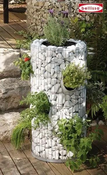 Amenajarea gradinii cu gabioane Gabion garden landscaping ideas 12