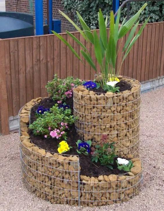 Amenajarea gradinii cu gabioane Gabion garden landscaping ideas 13