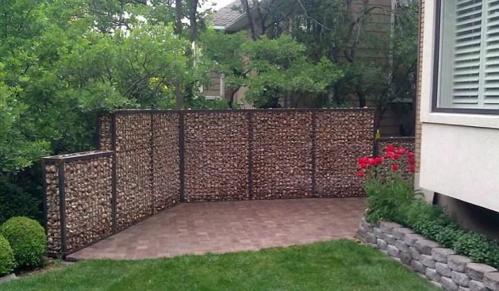 Amenajarea gradinii cu gabioane Gabion garden landscaping ideas 8