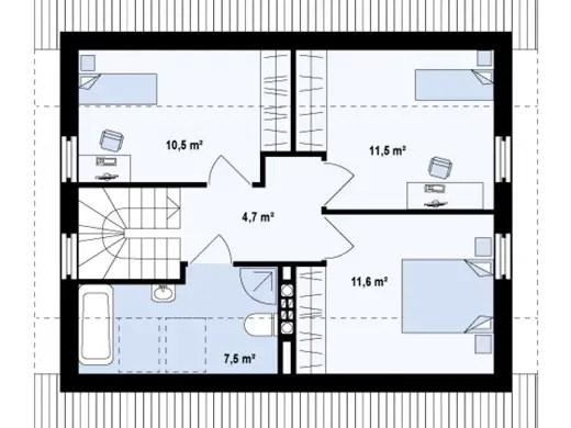 Case de vacanta cu mansarda Two story holiday homes 9