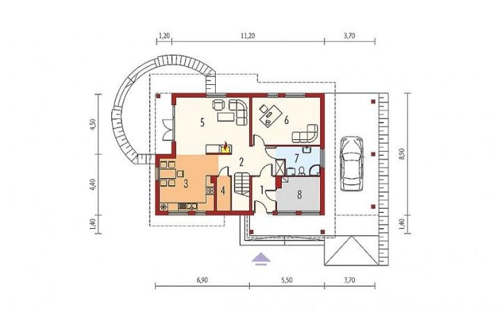 Case din caramida Brick house plans 3