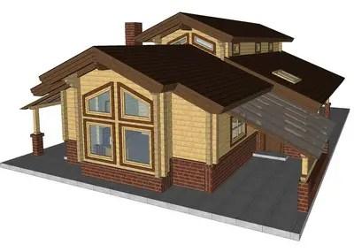 Case din grinzi chertate beam houses 1