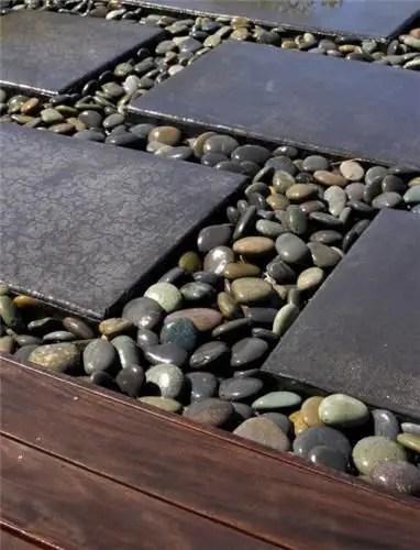 Modele de pavaj cu piatra de rau River stone paver ideas 2