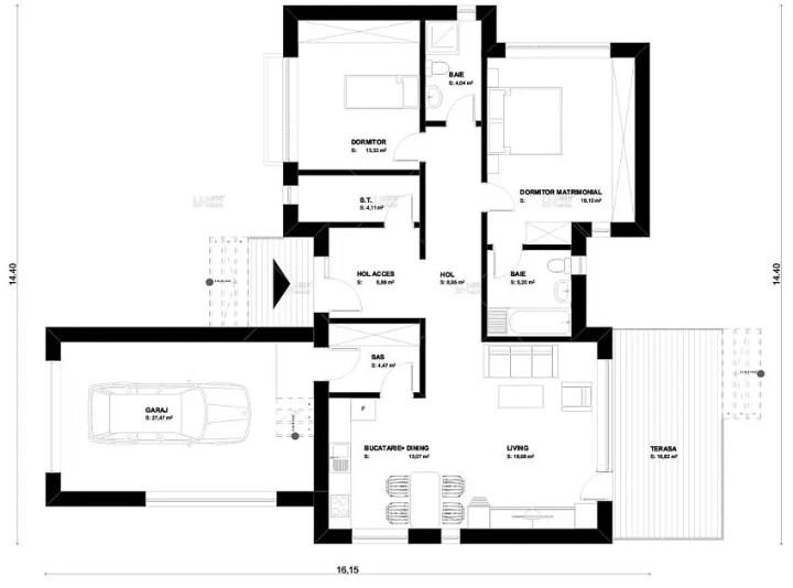 Proiecte de case mici sub 120 de mp Houses under 120 square meters 8