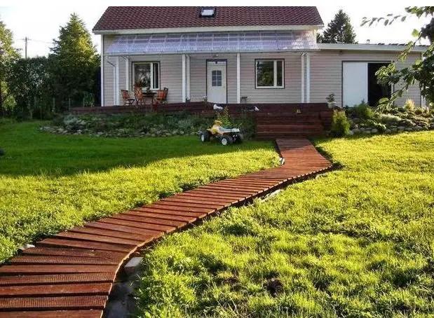 alei de gradina din lemn Garden wooden walkways 19
