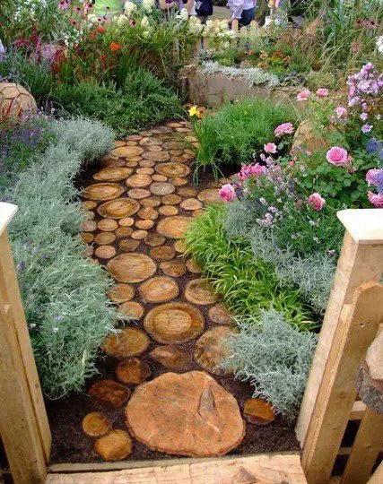alei de gradina din lemn Garden wooden walkways 2