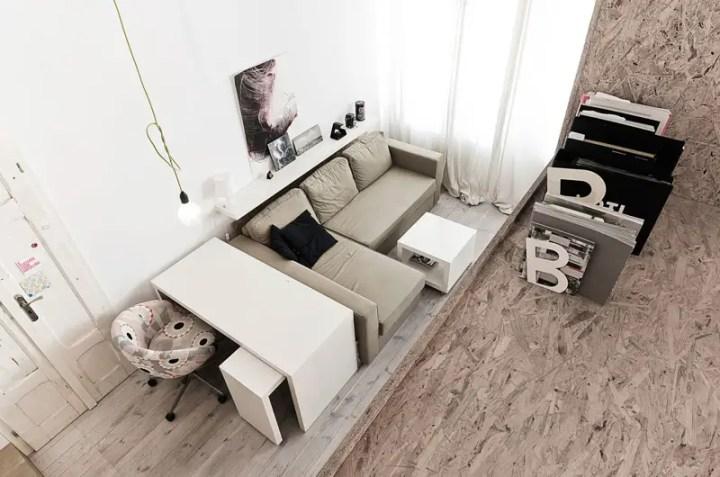 Amenajarea unui apartament de 29 de metri patrati - o baie, bucatarie, living si dormitor