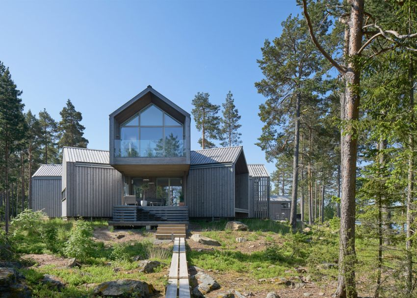 Casa in forma de stea design suedez orientat catre natura case practice - The star shaped villa ...