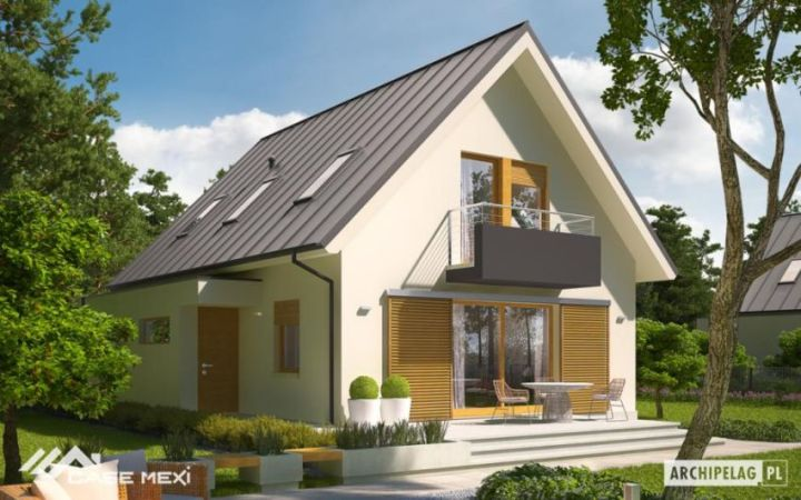 Case cu mansarda si balcoane - design clasic cu iz de modernism