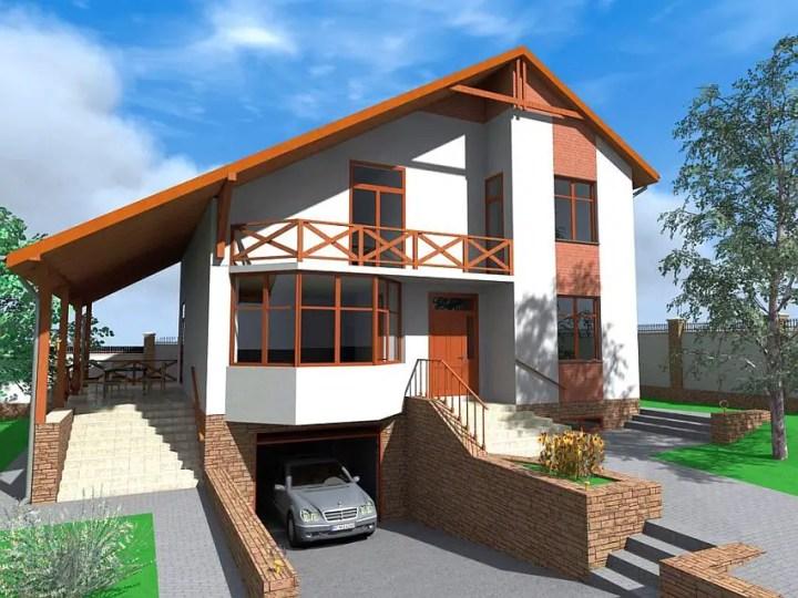 case cu mansarda si garaj subteran Loft houses with underground garage 2