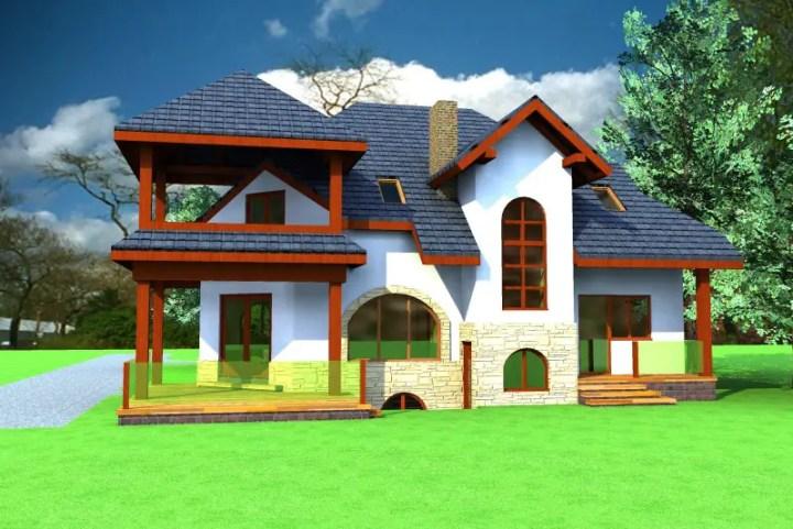 case cu mansarda si garaj subteran Loft houses with underground garage 8