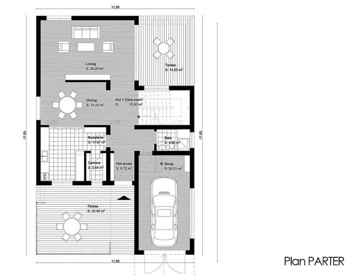 case medii pe doua nivele Medium sized two story house plans 12