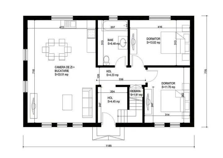 case medii pe doua nivele Medium sized two story house plans 21