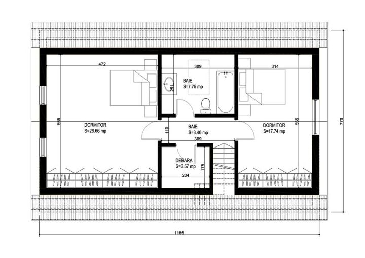 case medii pe doua nivele Medium sized two story house plans 22