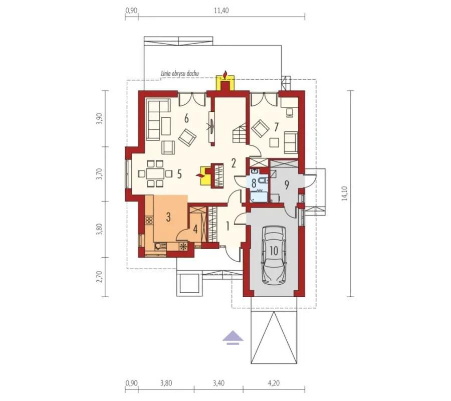 case medii pe doua nivele Medium sized two story house plans 24