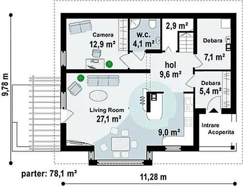 case medii pe doua nivele Medium sized two story house plans 3