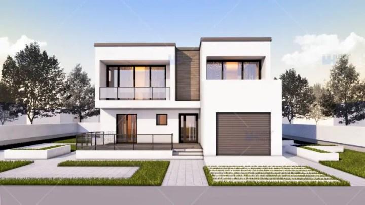 case medii pe doua nivele Medium sized two story house plans 9