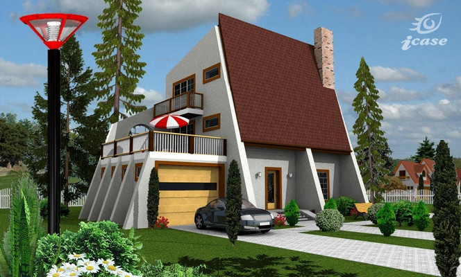Case mici cu etaj si mansarda - arhitectura moderna