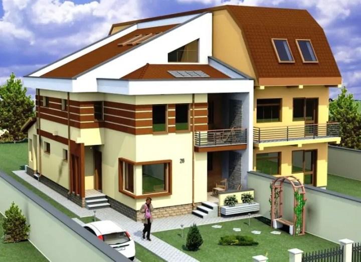 Case mici cu etaj si mansarda - camera pentru hobby la ultimul nivel