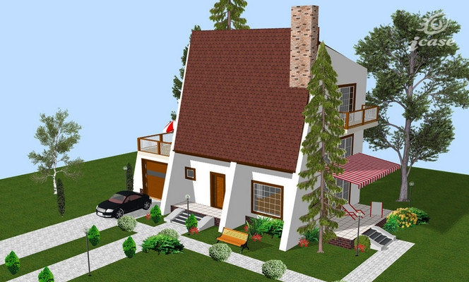 case mici cu etaj si mansarda Three story house plans 2