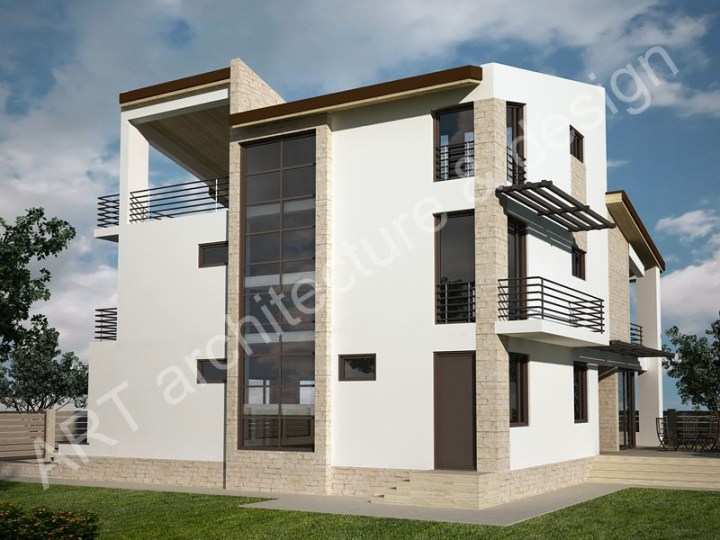 case mici cu etaj si mansarda Three story house plans 6