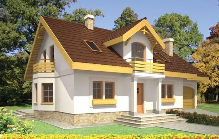 Case mici cu lucarne - fatade in contraste clare