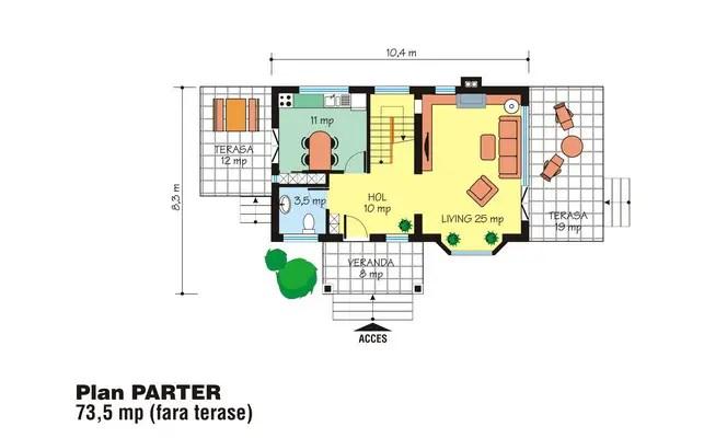case mici cu lucarne Small dormer house plans 11