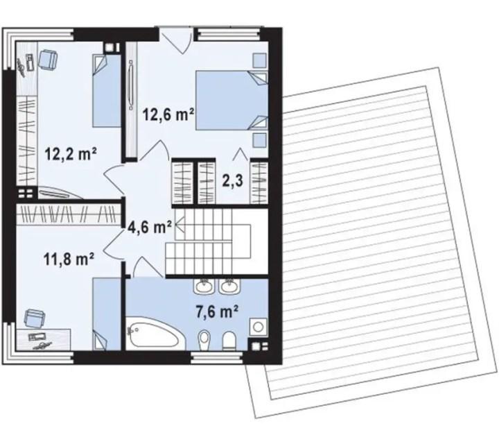 case moderne cu etaj Modern two story houses 4