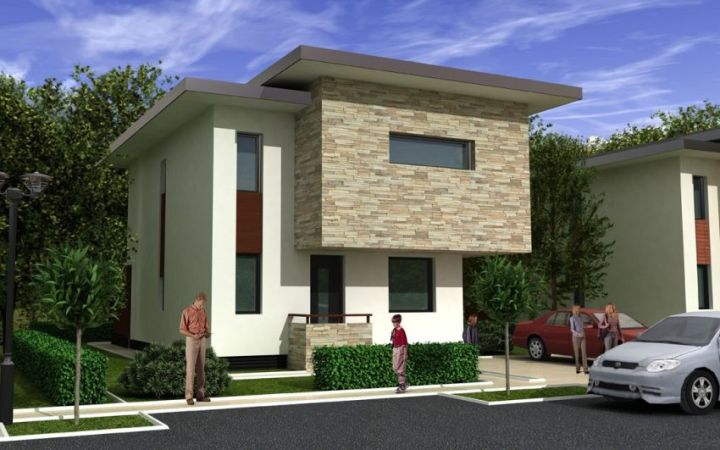 Case moderne cu etaj - jocuri de volume