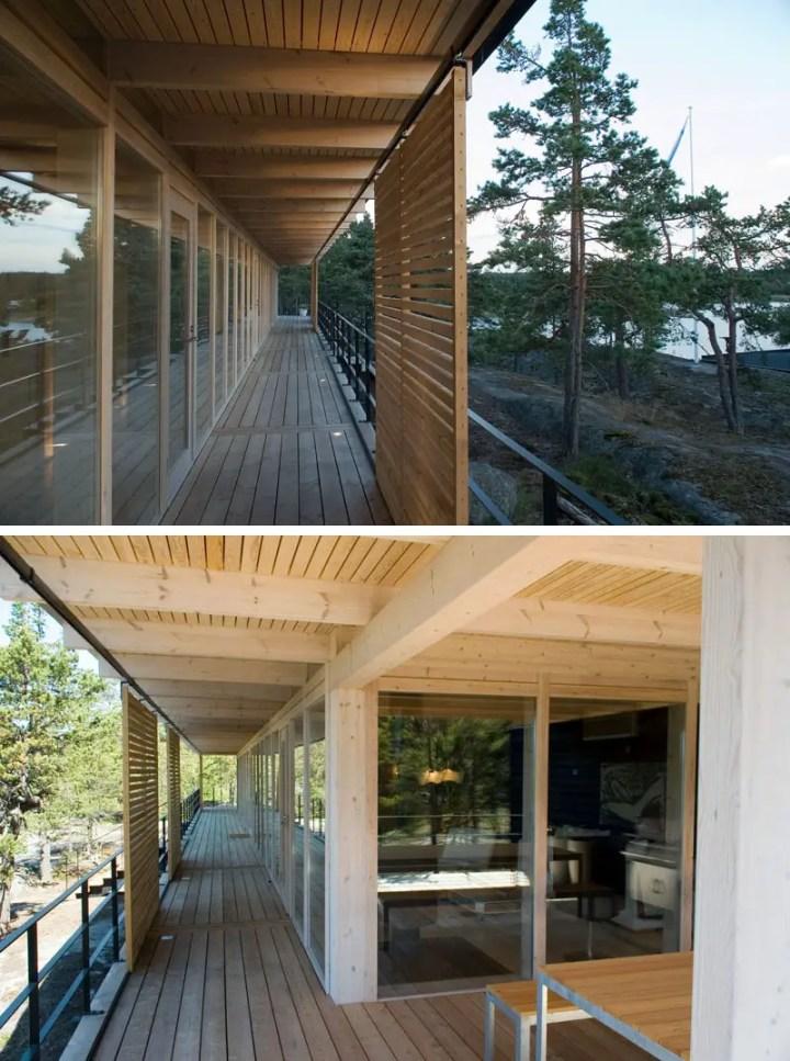 Casuta de pe stanca - interioare minimaliste, cu accente contemporane aduse de instalatiile de iluminat