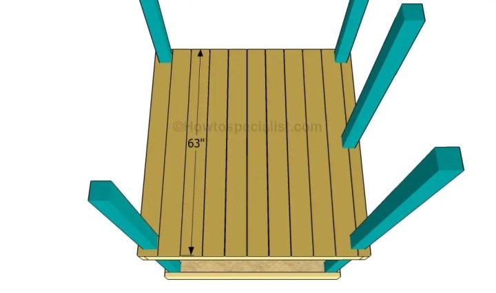constructia unui mic loc de joaca pentru copii How to build an outdoor wooden playground 3