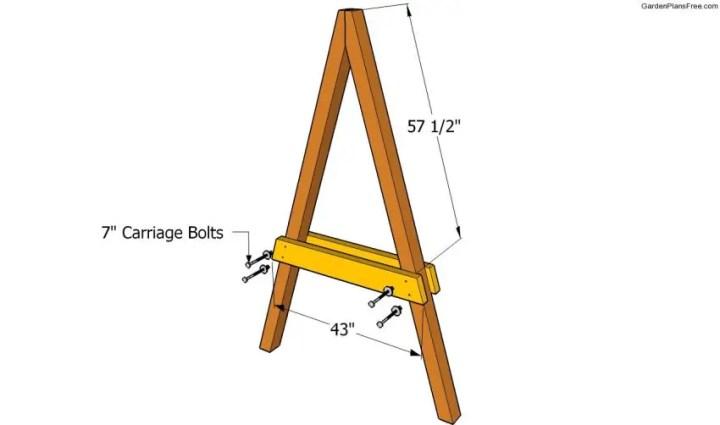 cum construiesti un leagan de gradina Building a garden swing seat 3
