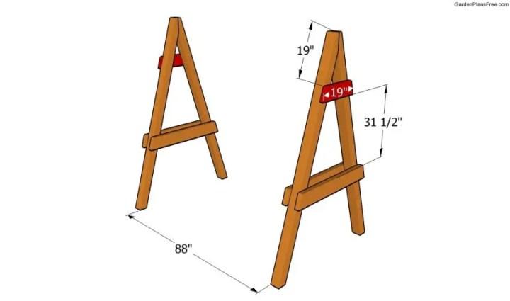 cum construiesti un leagan de gradina Building a garden swing seat 4