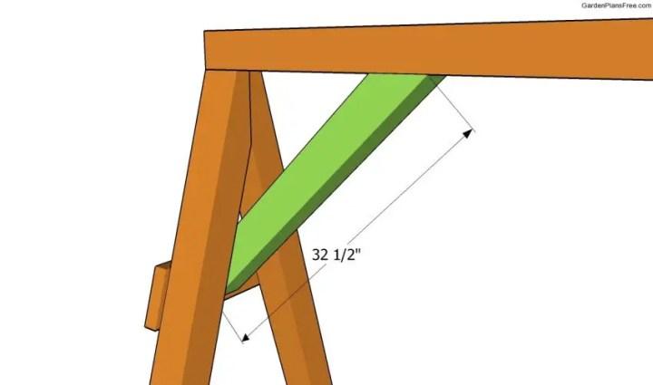 cum construiesti un leagan de gradina Building a garden swing seat 6