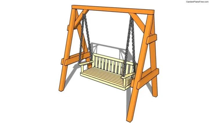cum construiesti un leagan de gradina Building a garden swing seat 7