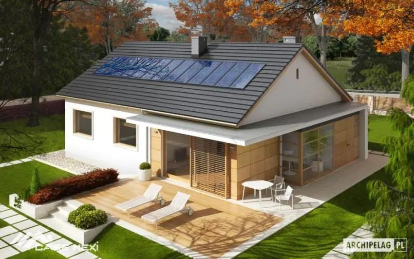 Proiecte de case cu parter si finisaje exterioare din lemn Single floor houses with exterior wood finishes 10