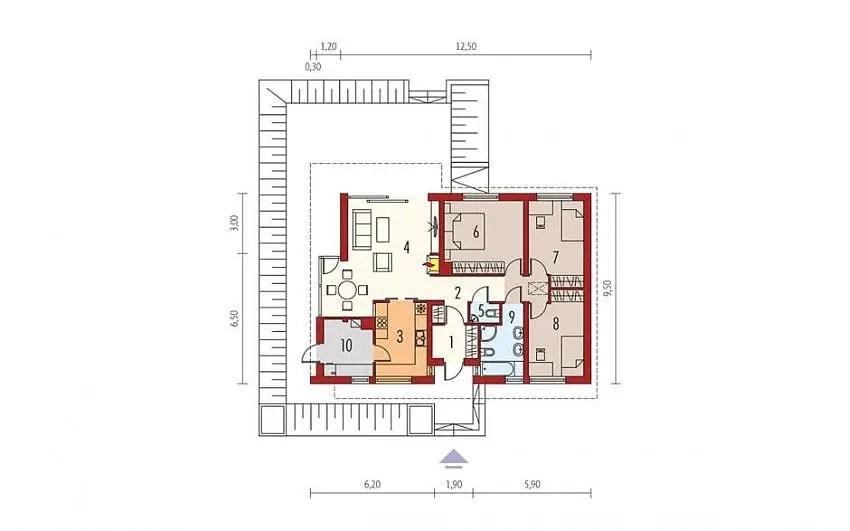 Proiecte de case cu parter si finisaje exterioare din lemn Single floor houses with exterior wood finishes 12