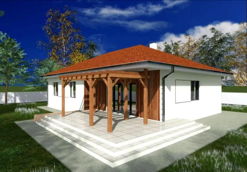 Proiecte de case cu parter si finisaje exterioare din lemn Single floor houses with exterior wood finishes 3