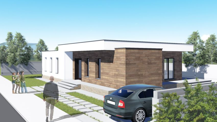 Proiecte de case cu parter si finisaje exterioare din lemn Single floor houses with exterior wood finishes 7