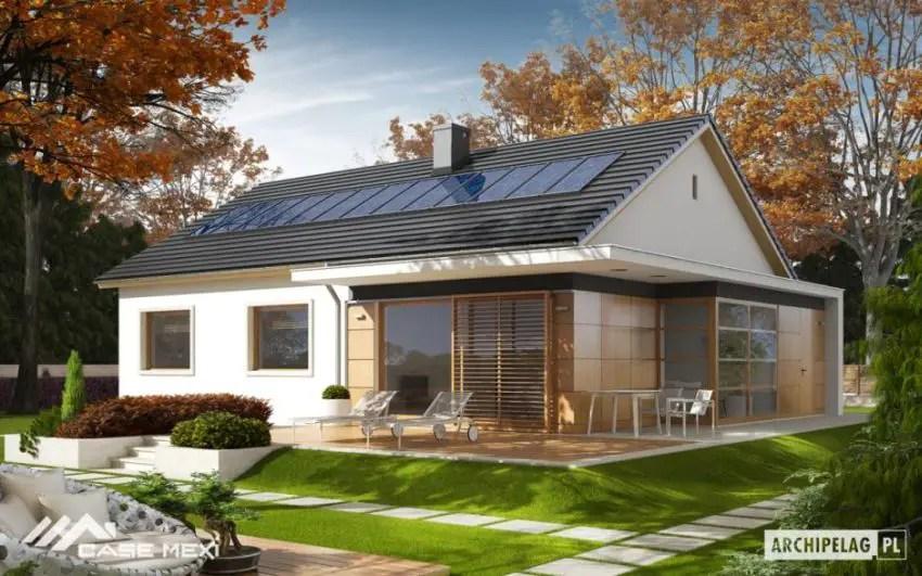 Proiecte de case cu parter si finisaje exterioare din lemn - fatade transparente