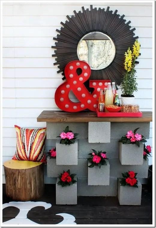 amenajari de gradina cu boltari Cinder block garden uses 15