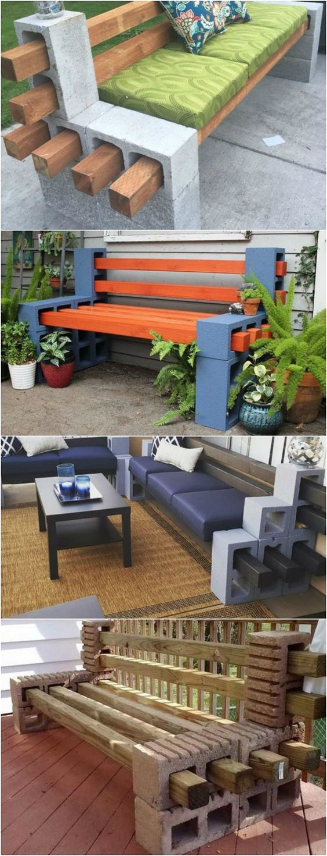amenajari de gradina cu boltari Cinder block garden uses 17