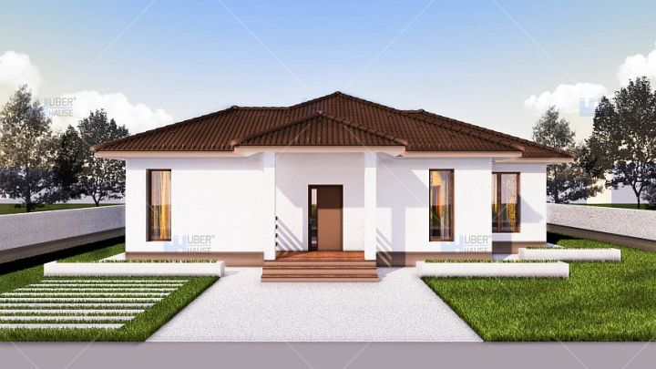 case cu doua dormitoare Two bedroom single story house plans 4