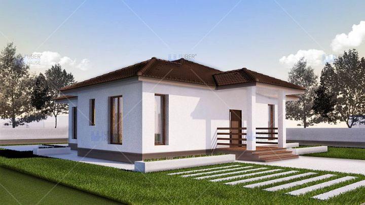 case cu doua dormitoare Two bedroom single story house plans 6