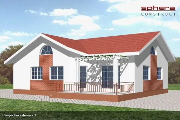 case cu doua dormitoare Two bedroom single story house plans 8